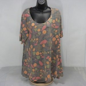 LuLaRoe XL Paisley Floral Pullover Tunic Top